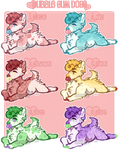 Bubble Gum Dogs Set Price - 5/6 OPEN by ghostblush