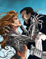 Witchblade vs Punisher by Darkratbat