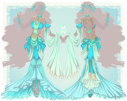 :Comm: Outfit for Undine by MMtheMayo