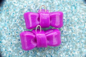 Purple bows by Shelby-JoJewelry