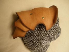 Hardened leather pauldron by Tybertimus