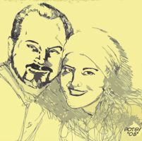 Rob and Christy Abstract by RPotchak