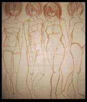 Simple Female Body Types by Xadrea