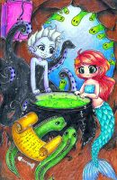 Little Mermaid and Ursula by Aznponie12