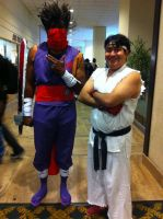 Strider and Ryu(Mechacon 2014) by Hound-02