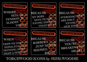 Torchwood Icons by mimi-woodie