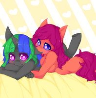 Commission Cuddles by punipaws