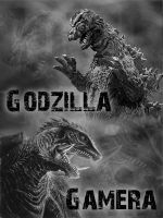 Godzilla and Gamera by Gojigirl