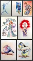 Watercolors Set 1 by anqila