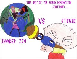Invader Zim Vs. Stewie by CrimsonRaven1919