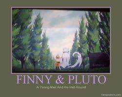 Finny x Pluto Poster Two by AnnieSmith
