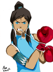 Boxing Korra by alas-is-kuwaii