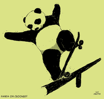 Panda on Crooked by lucero
