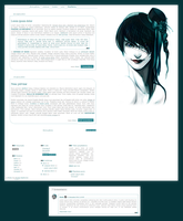 Blogspot template Prosty by MySensitiveHeart
