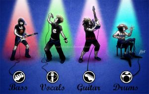 Rockin' Roll Band by AmberDust