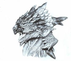 Rathalos Head by RagiaWolf