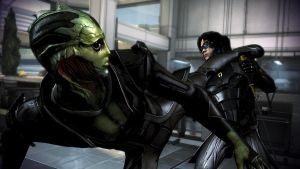 Thane Krios and Kai Leng by Hallucinogenmushroom