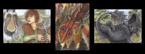 Httyd ACEO cards by Argendriel