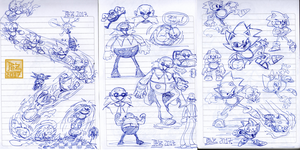 Sonic Sketches by PezAdriArts
