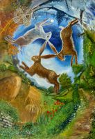 Three hares extended by dashinvaine