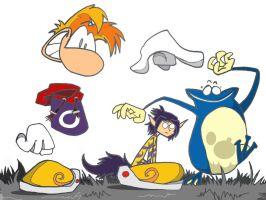 Rayman, Ly and Globox by Darivonch420
