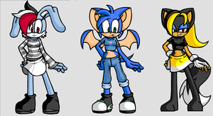 Three Sonic X characters by AskScourgeAndJaypaw