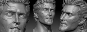 Ash Williams/Bruce Campbell (Evil Dead II) 3D WIP2 by FoxHound1984