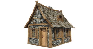 Medieval Hut A-1, PNG by fumar-porros