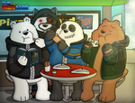 We Bare Bears - Pizza Time (Miltonator Desing) by Miltonator