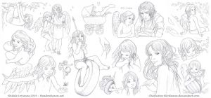 Elerus Sketchpage Commission 16-18 by Saimain