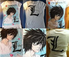L Death Note Shirt by ChibiStarChan