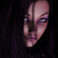 Purple People Eater Portrait by DirtyFairy