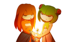 Cosmo and Tikal by Cheroy