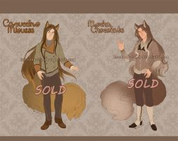 Adoptables - Drinks Characters - (CLOSED) by Luciana-Lu
