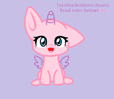Chibi pony Base by Tornblackribbons