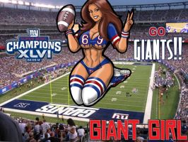 Giant Girl GO GIANTS!! by SabrinaPandora