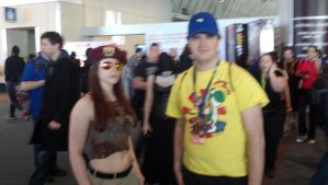 With a Cosplayer picture (PAX East 2013) by JackitK