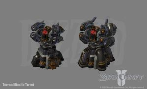 SC2: Terran Missile Turret by PhillGonzo