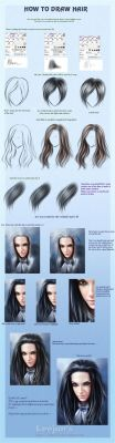 How to draw hair by leejun35