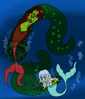Bound Mermaids6 by MegaGundamMan