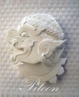 Paper Sculpture - MONKEY.,Tradition Thai Art by 8thLeo