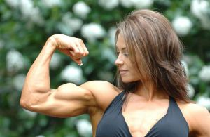 Hot girl bicep flex by edinaus