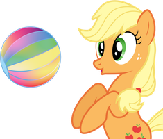 MLP: Applejack Speed Vector: Beach Ball by mewtwo-EX