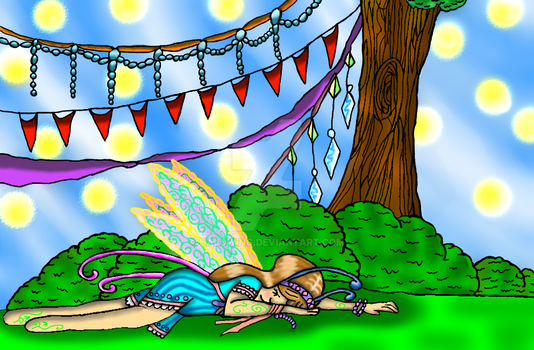 Sleeping Fairy by Halowing