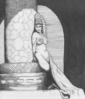 Frazetta Egyptian Queen II by artphantom