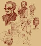 Bayou Arcana character sketches. by StressedJenny