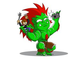 Blanka with Ono A by OmegaClarens