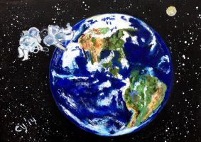 Gravity with Planet Earth by CarolynYM