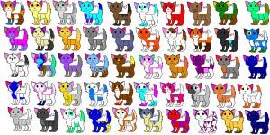 Huge Cat Adoptable Sheet  !!!!CLOSED!!!! by katleidoscopic