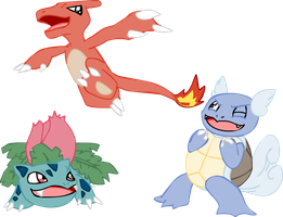 Kanto starters are awesome ok? by ARTic-Weather